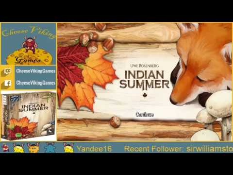 Board Game Tutorial: Learn How to Play Indian Summer by Uwe Rosenberg