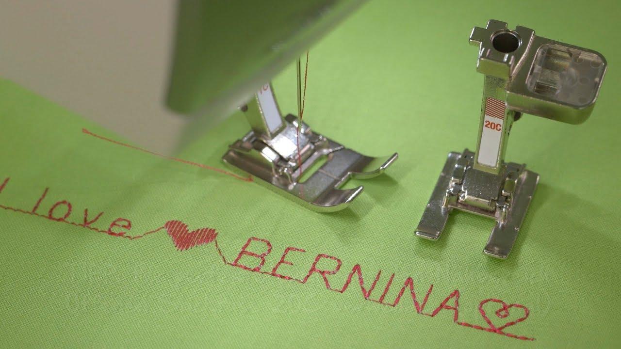 Zierstiche und Buchstaben nähen mit der B 485