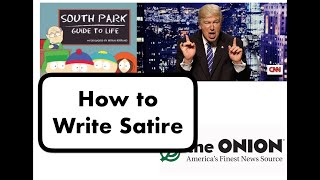 How to Write a Satire