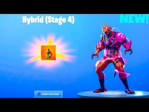 new final stage hybrid showcase stage 4 leaked emotes fortnite battle royale - hybrid fortnite dragon stance