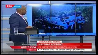 World View: Exclusive; A Bus belonging to TSS Express overturns in Mazeras-Lamu