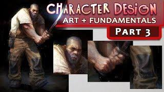 Character Design Mini-Series Pt. 3 - Rendering, Brushwork, Texture, Materials Clothing, FINAL ART