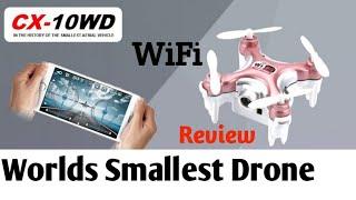 Worlds Smallest mini FPV Drone   Live Video   WiFi   CX-10w   40$