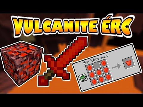 🔥 VULKÁN PÁNCÉL A MINECRAFTBAN! 🔥 Vulcanite Ores Mod Magyar Bemutató