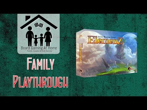 BoardGamingAtHome Family Playthrough of ElemenZ