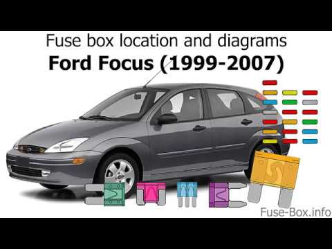Fuse box location and diagrams: Ford Focus (1999-2007)