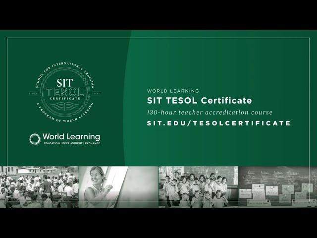 SIT TESOL Certificate