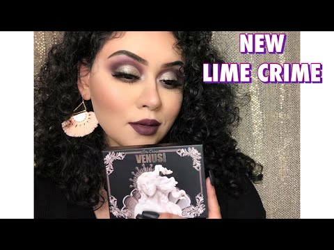 NEW LIME CRIME VENUS IMMORTALIS REVIEW, SWATCH, AND TUTORIAL