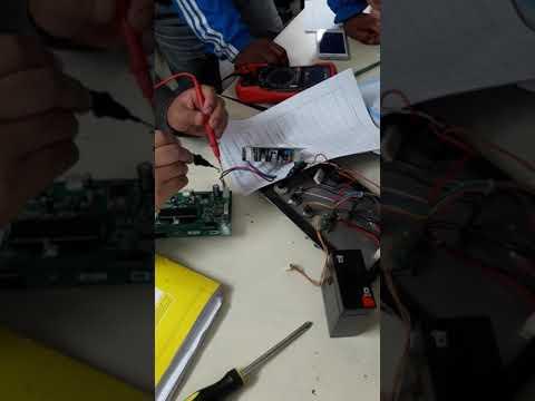 Reparación de un na balanza electrónica