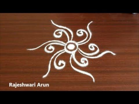 Diwali Rangoli Design with Dots*Simple kolam rangoli design for diwali *easy muggulu for diwali 2019