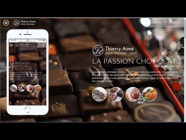 Site e-commerce du chocolatier Thierry Aimé