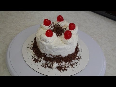 Video Eggless Black Forest Cake recipe video - Start to finish