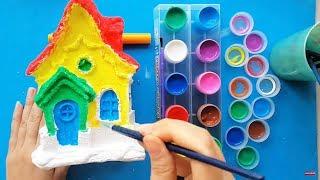 Đồ Chơi Bé Tô Tượng Ngôi Nhà Có Nhiều Cửa Sổ, Dạy Bé Học Màu Sắc Dễ Nhất