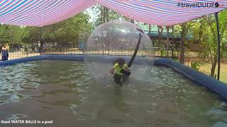 Giant WATER BALLS in a pool - Fun activities for Kids and Toddlers India
