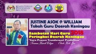 Justine Asok   Tokoh Guru Daerah Keningau 2018