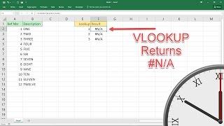 Excel Vlookup #N/A Fixes