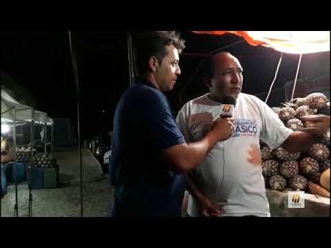 TV bodó em Cerro Corá na feira livre A noite.