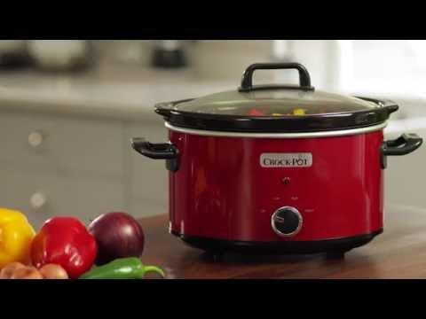 Crock Pot olla de cocción lenta 3,5 L roja