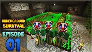 Minecraft Xbox - Underground Survival - The Last Daylight Episode 1