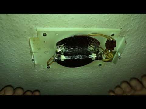 Leuchtmittel ersetzen Deckenlampe 230V Birne wechseln mit R7S Fassung 80W Halogen Röhre Anleitung