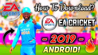 How To Download EA Cricket 2017 For Android Mobile Free HD Graphics (Hindi)
