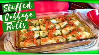 Baked Stuffed Cabbage Rolls - Step-by-step Recipe!