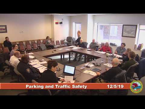 Parking and Traffic Safety Committee 12.5.2019