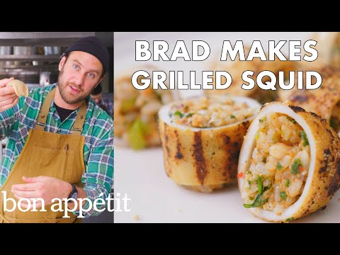 Brad Makes Grilled Stuffed Squid From The Test Kitchen