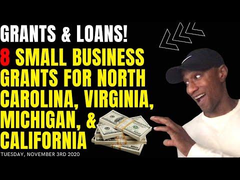 , title : '8 Small Business Grants for Virginia, Pasadena, California, North Carolina and Michigan! New Grants!