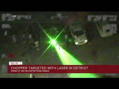 Chopper targeted with laser in Detroit
