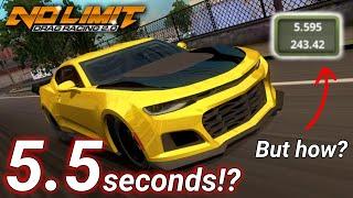 5.5 Seconds Impossible Tune?! - Fastest Camaro ZL1 Tune Guaranteed! No Limit Drag Racing 2.0