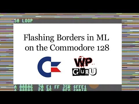 How to set the text and background colour on a C64 | The WP Guru