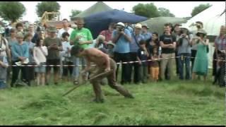 West Country Scythe Competition 2010: Scythe v Strimmer