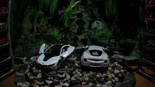 KINSMART машинки для мальчиков масштаб 1/36 - BMW i8 - Alfa Romeo 4C
