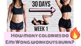How Many Calories Do Emi Wong Workouts Burn? @Emi Wong
