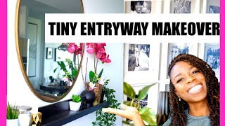 2 ENTRYWAY DECORATING IDEAS ON A BUDGET * DIY MINIMALIST SMALL HOME APARTMENT FOYER MAKEOVER IKEA