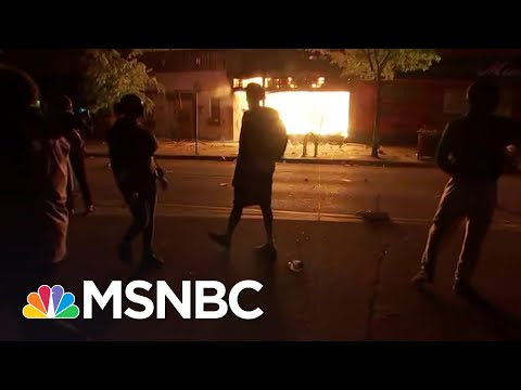 No Police Present As Fires Rage In Minneapolis After Fierce Protests | The 11th Hour | MSNBC