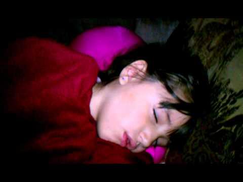 My beautiful niece sleeping at the cabin.