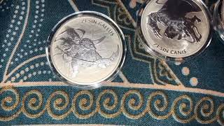 2017, 2018 & 2019 South Korea 1 oz Silver ZI:SIN BU