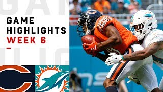 Bears vs. Dolphins Week 6 Highlights | NFL 2018