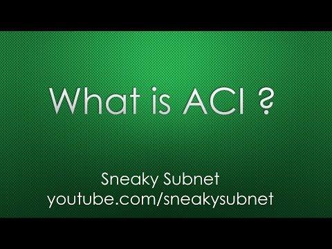 Cisco ACI Overview - YouTube