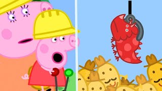 Peppa Pig Full Episodes | Peppa Pig's Fun Time At Digger World | Kids Videos
