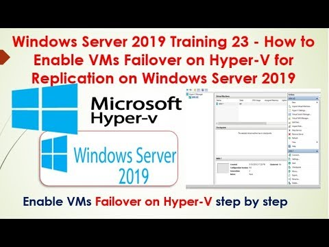 Windows Server 2019 Training 23 - How to Enable VMs ... - YouTube