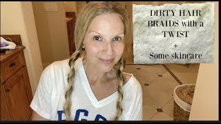 DIRTY HAIR BRAIDS | WITH A TWIST | #thisis60