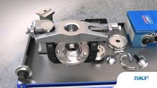 SKF - Come montare e smontare il cuscinetto ruota usando l'attrezzatura SKF VKN 600,  601 e 602-1