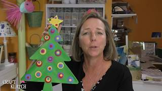 DIY Whimsical Wood Christmas Tree ~ Craft Klatch ~ Christmas Crafts