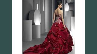 Collection Of Color Red - Red & White Wedding Dress