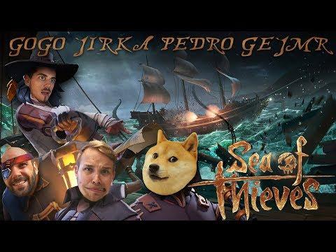 (ne)MORÁLNA POSÁDKA - SEA OF THIEVES │GOGO, JIRKA, PEDRO & GEJMR