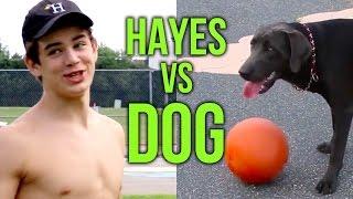 Hayes Grier Dog Fetch Fail