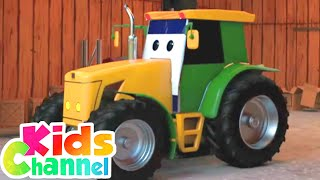 Tractor Car Garage Videos for Children | Car Cartoons by Kids Channel